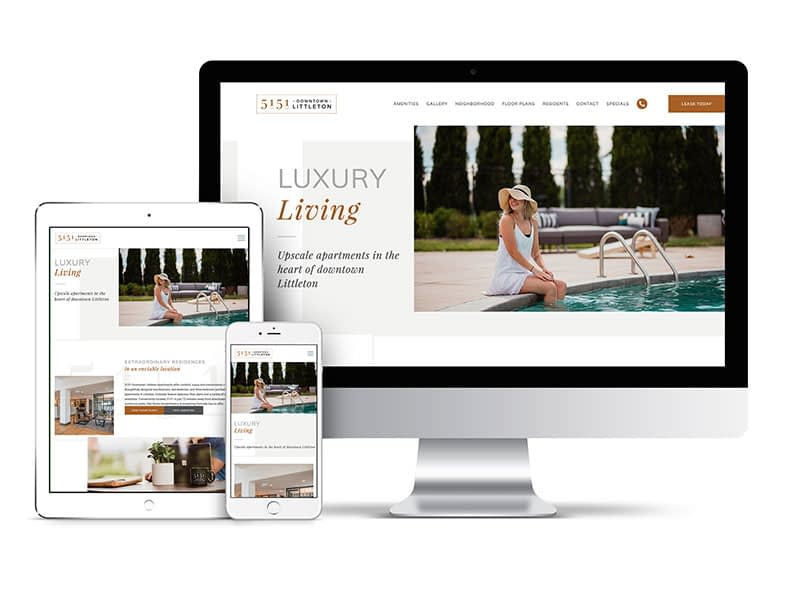 Website Mockup for Apartment Complex - BrindleDigital.com