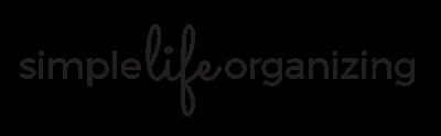 simple life organizing logo