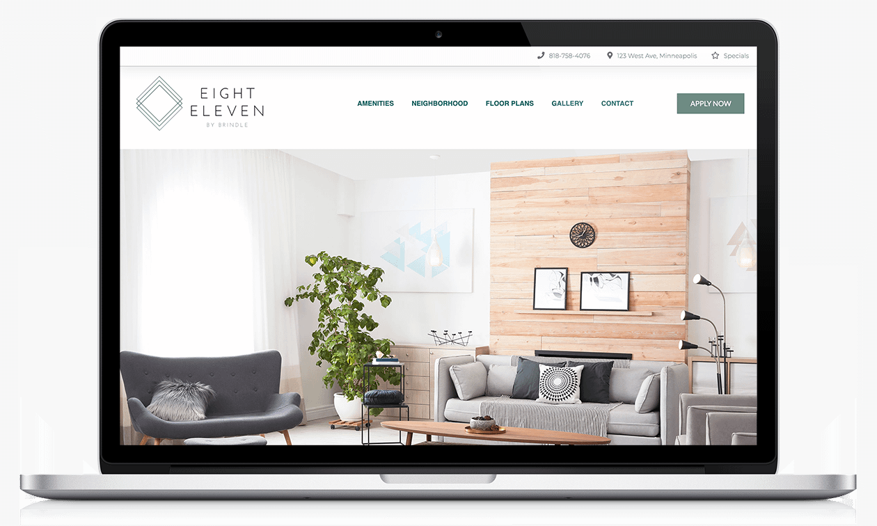 Apartment Marketing Website Sample