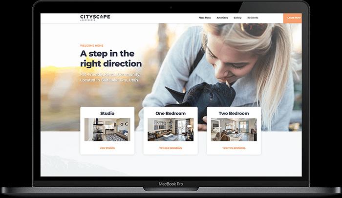 CityScape web design on computer