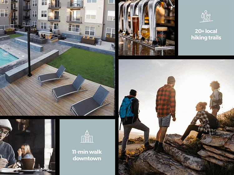 Cityscape Apartments Marketing Collage