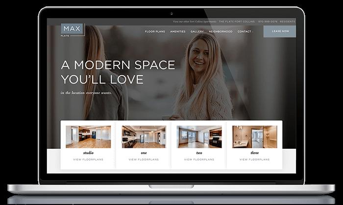 Max Flats Web Design Sample