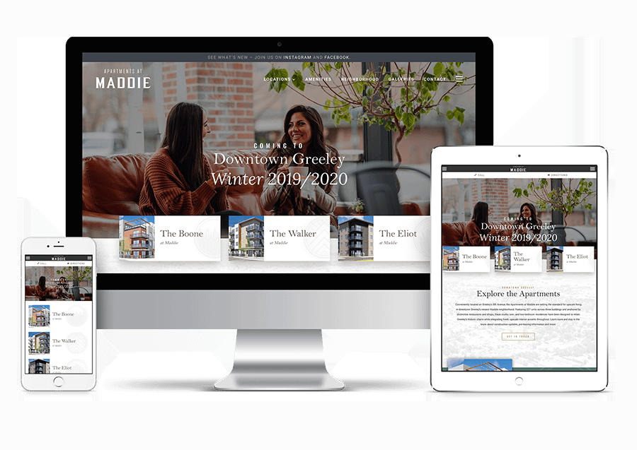 Maddie apartments website sample