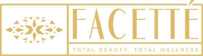 gold and white Facette brand logo