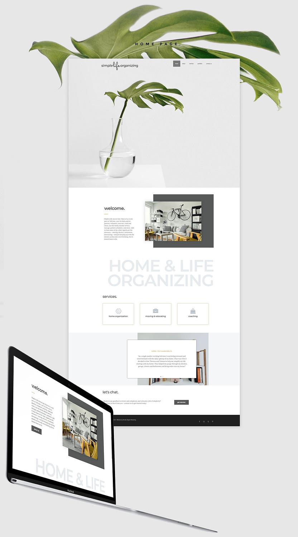 Simple life organizing web design