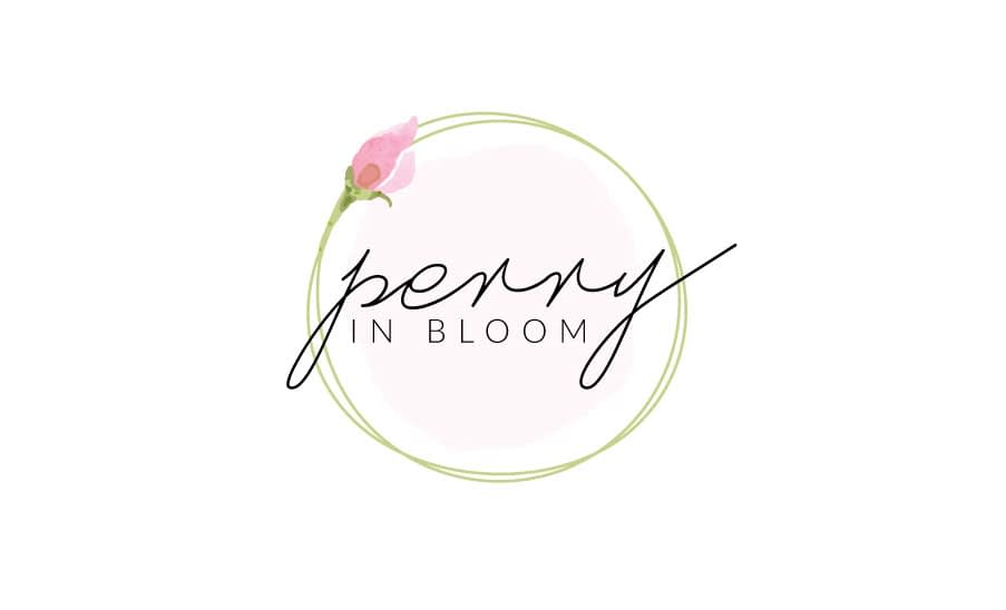 Perry in Bloom logo design color